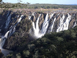 The beautiful Ruacana falls on the border of Namibia and Botswana.