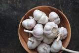 Garlic bulb with rustic background - 211413362