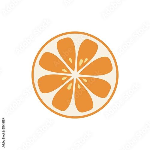 Organic logo. Orange logo. Orange icon - 211416159