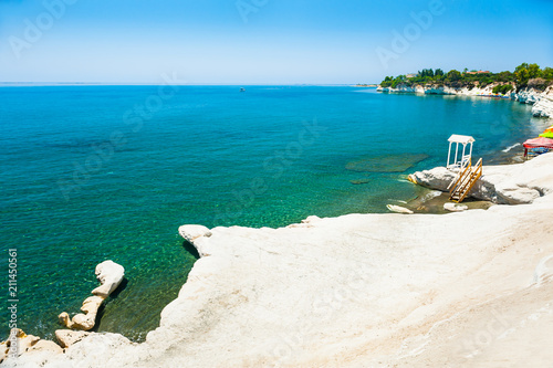 In de dag Cyprus White cliff on