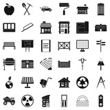 Architecture icons set. Simple style of 36 architecture vector icons for web isolated on white background - 211458501