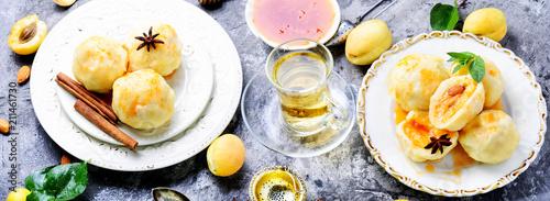 Fruit dumplings with apricot - 211461730