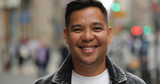 Asian man in city face portrait - 211478124