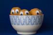 Representación de unos albaricoques escondidos en una taza.