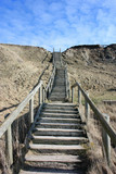 stairs in the dunes of denmark - 211484329