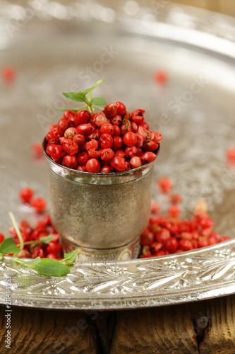 pink pepper peas for seasoning food - 211484953