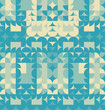 Abstract blue geometric design. Vector illustration. Pattern can be used as a template for brochure, annual report, magazine, poster, presentation, flyer and banner. - 211485122