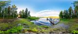 Panorama See in Schweden