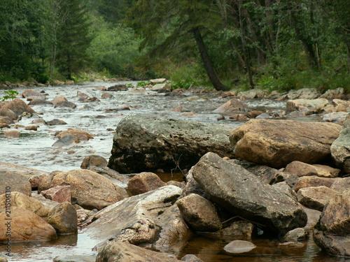 Aluminium Bergrivier Mountain River stone