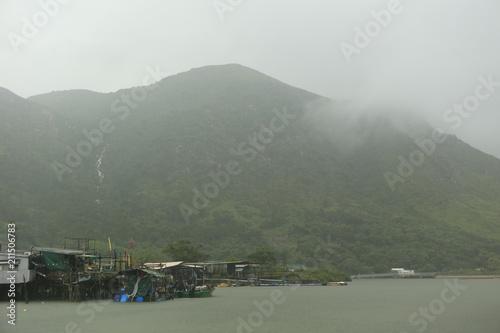 Plexiglas Khaki Village flottant de Tai o près de Hong Kong