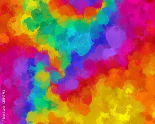 paint like illustration background in summer theme colorful © quietword