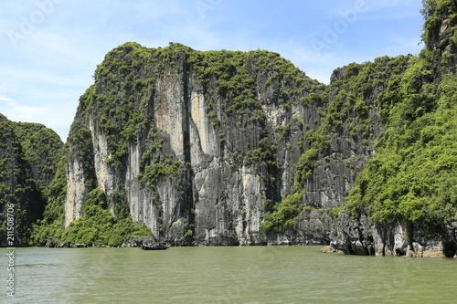 Fotobehang Olijf Baie d'Along au Vietnam