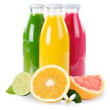Saft Orangensaft Smoothie Smoothies Flasche Fruchtsaft Früchte Quadrat freigestellt Freisteller isoliert