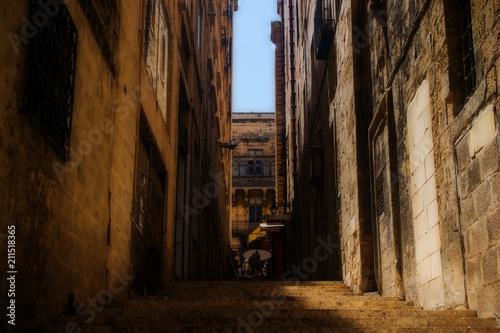 Fotobehang Smalle straatjes Historical Road in Valletta, Malta