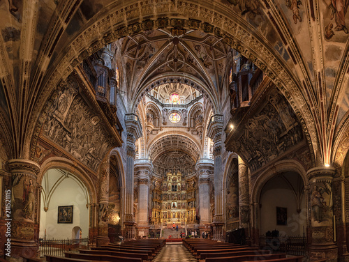 Foto Murales The famous Royal Monastery of St. Jerome  in Granada, Spain