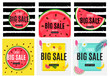 Abstract Summer Sale Background with Watermelon Collection Set. Vector Illustration