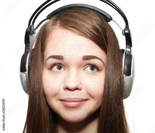 Happy girl listening to the music - 211524594