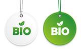bio gütesiegel anhänger weiß grün - 211524953