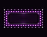 Violet sparkling neon frame - 211531151