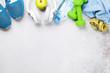 Leinwanddruck Bild - Fitness concept background
