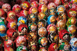 Leinwanddruck Bild - Russian souvenir dolls, Matryoshka doll collection -