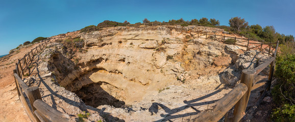 Top view of Benagil cave, Algarve Portugal © cristovao31