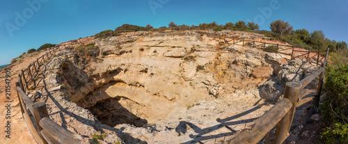 Fototapeta Top view of Benagil cave, Algarve Portugal