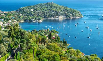 Mediterranean sea French riviera Summer holidays background © LiliGraphie
