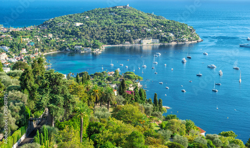Mediterranean sea French riviera Summer holidays background