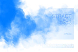 Vector illustration of light clouds in blue sky. Abstract backdrop with realistic cloud motif. - 211555311
