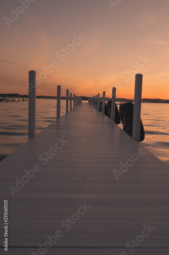 Docks At Sunset