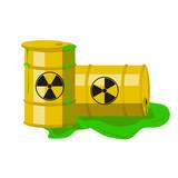 Radioactive barrels. Vector. - 211561312