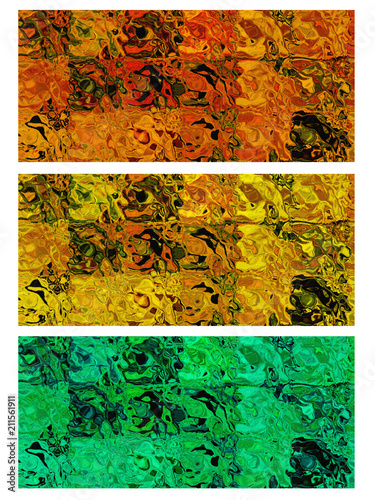 Brightly colored variation of the background in the texture. - 211561911