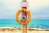 Lifebuoy on the beach