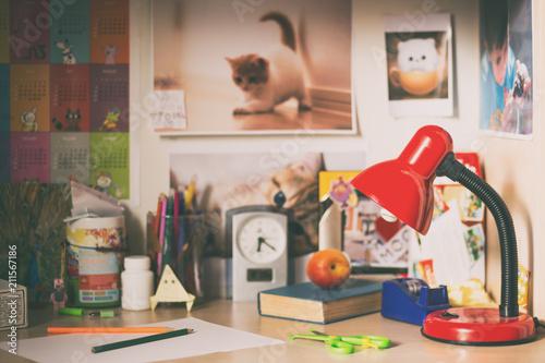 The schoolboy desk