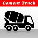 cement truck vector icon design - 211570163