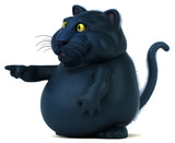 Black cat - 3D Illustration - 211572505