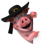 Fun Pig - 3D Illustration - 211572551