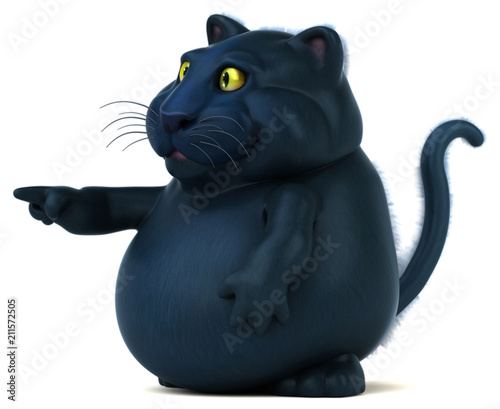 Black cat - 3D Illustration - 211572505