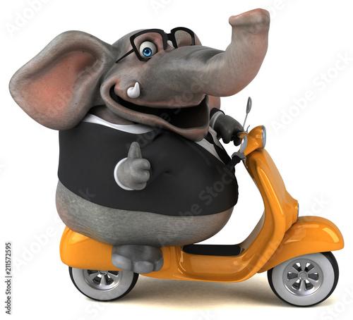 Fototapeta Fun elephant - 3D Illustration