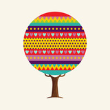 Colorful cute geometric tree concept - 211576559