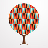 Retro abstract texture decoration tree concept - 211576714