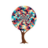 Retro abstract texture decoration tree concept - 211576717