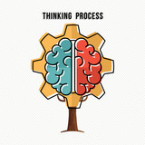 Thinking process concept for new business ideas - 211576747