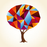 Abstract shape tree concept in vibrant colors - 211576752