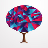 Abstract shape tree concept in vibrant colors - 211576753