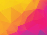 abstract yellow purple polygonal vector background - 211577563