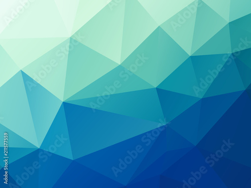 Poster abstract green blue pastel low poly vector background