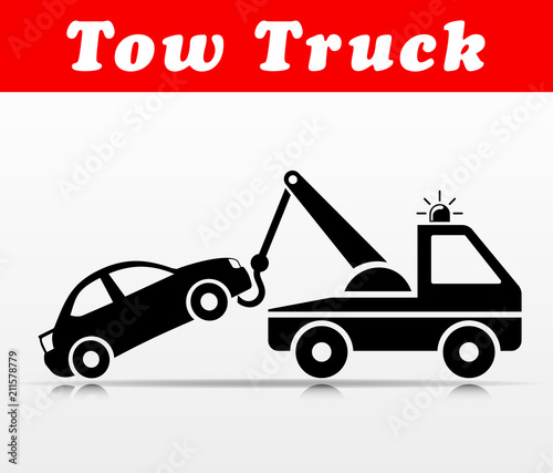 Wall mural tow truck vector icon design