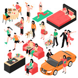 Couple Daily Routine Isometric Set - 211581159